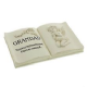 In Loving Memory Memorial Book Shaped Plaque ' Grandad' 60931 Bereavement Remembrance